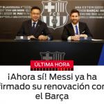 Ahora si! Messi renueva hasta 2021